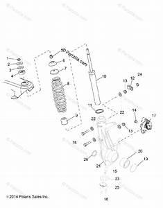 Polaris Side By Side 2016 Oem Parts Diagram For Suspension  Front Strut