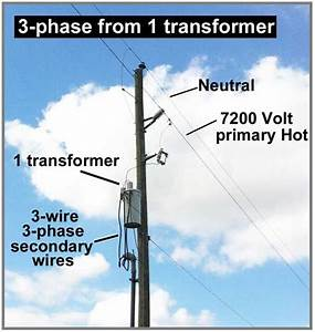 How To Wire 3-phase From 1 Transformer