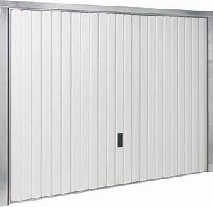 Probleme Fermeture Porte De Garage Basculante : porte de garage basculante blanche h200xl240 bricoman ~ Maxctalentgroup.com Avis de Voitures