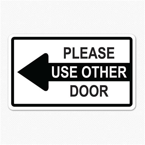 use other door sign 5 best images of use other door sign printable