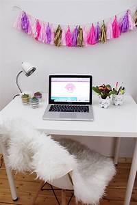 Zimmer Schalldicht Machen : diy party girlande aus seidenpapier selber machen schreibtisch makeover madmoisell diy blog ~ Markanthonyermac.com Haus und Dekorationen