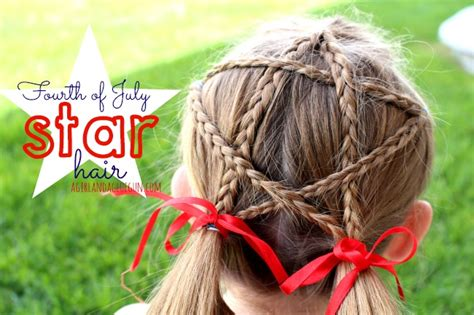 fourth  july star hair  girl   glue gun