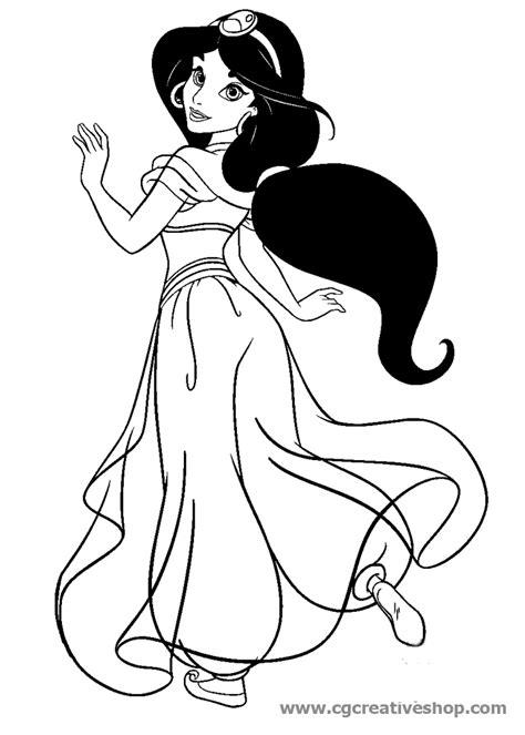 principesse disney da disegnare fidanzata di aladin disegno da colorare