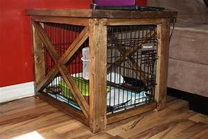 7 easy and creative diy end table ideas With dog crate and table