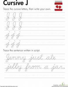 j cursive writing popflyboys With cursive letters for 3rd graders