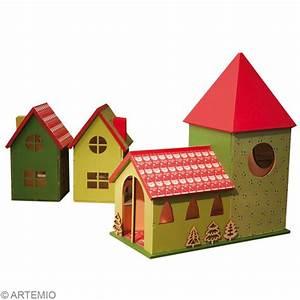 Maison De Noel Miniature : fabriquer un village de no l miniature id es conseils et tuto no l ~ Nature-et-papiers.com Idées de Décoration