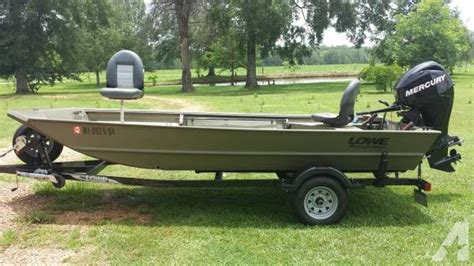 Used Aluminum Boats For Sale In Ms by 2013 16 Foot Lowe Semi V Jon Boat For Sale In Oak Vale