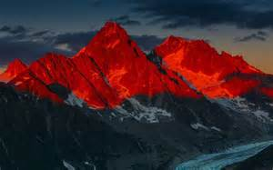 Red Desktop Background Mountains