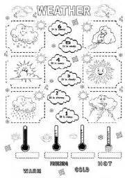 weather vocabulary for kids learning english printable