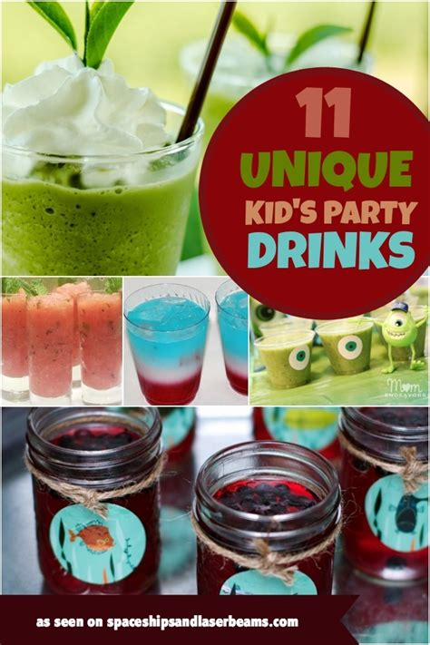 11 Unique Kid's Party Drinks  Spaceships And Laser Beams