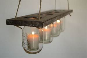 diy indoor rustic hanging mason jar candle holders With kitchen cabinets lowes with mason jars as candle holders