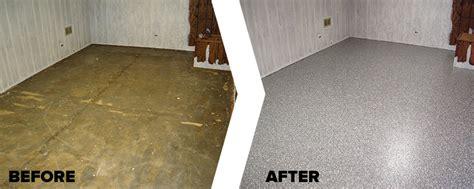 Garagestore  Basement Floor Epoxy Coating Repair