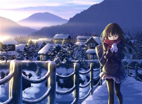 anime winter days winter day anime forever wallpapers and images desktop