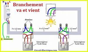 Branchement D Un Va Et Vient : branchement interrupteur va et vient electirique circuit electrique ~ Carolinahurricanesstore.com Idées de Décoration