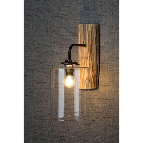 rustic wood glass wall light modern designer wall lights