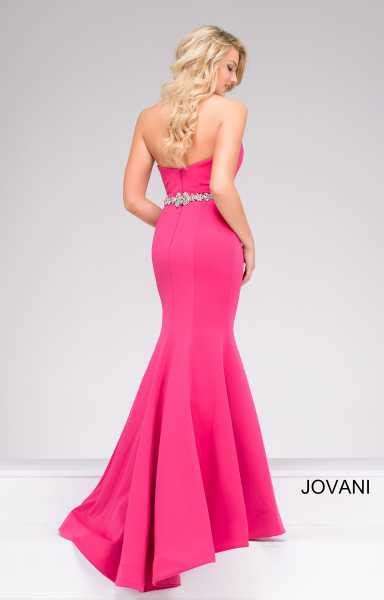 jovani  strapless mermaid dress prom dress