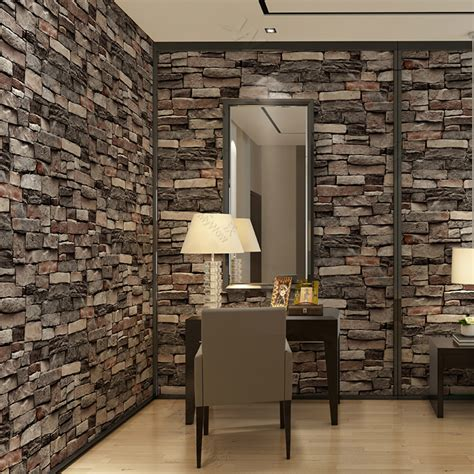 brick wall paper interiror modern  wallpaper  wall