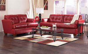 Red Leather Sofa Decorating Ideas Red Leather Sofa Living ...