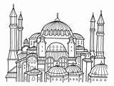 Sophia Hagia Elevation Coloring Drawing Drawings Sketch Template sketch template