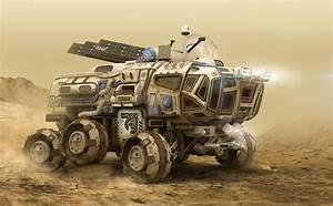 Large Terrestrial Exploration Rover Vehicle. Comfortably ...