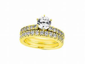 Genuine 125ct round cut diamond engagement ring wedding for 18k gold wedding ring set