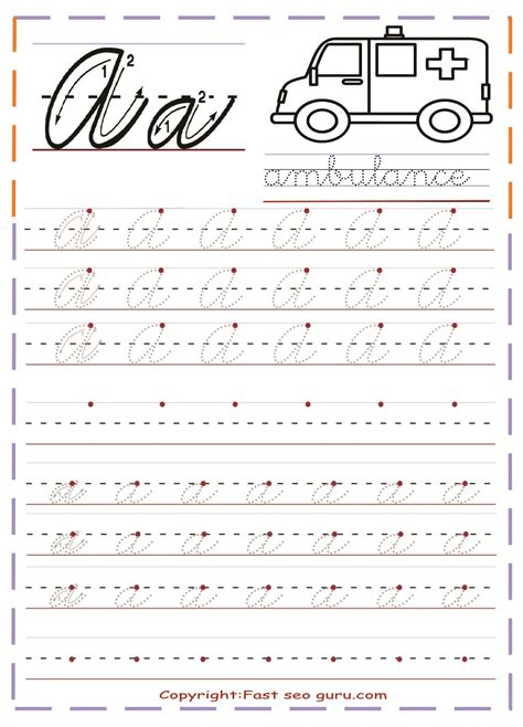 printable cursive handwriting practice sheets letter