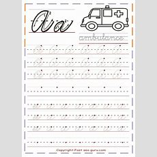 Printable Cursive Handwriting Practice Sheets Letter A  School Ideas  Handwriting Practice
