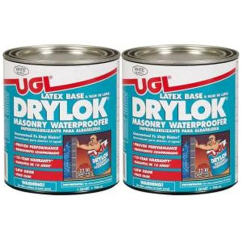 Drylok Concrete Floor Paint Home Depot by Ugl 1 Qt White Drylok Waterproofer 2 Pack 209102