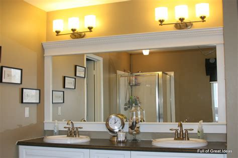 of great ideas how to upgrade your builder grade mirror frame it - Bathroom Mirror Trim Ideas