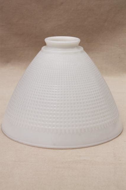 vintage white glass l shade vintage white glass diffuser shade l shade reflector