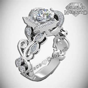 princess belle inspired rose flower swarovski sterling silver With belle wedding ring