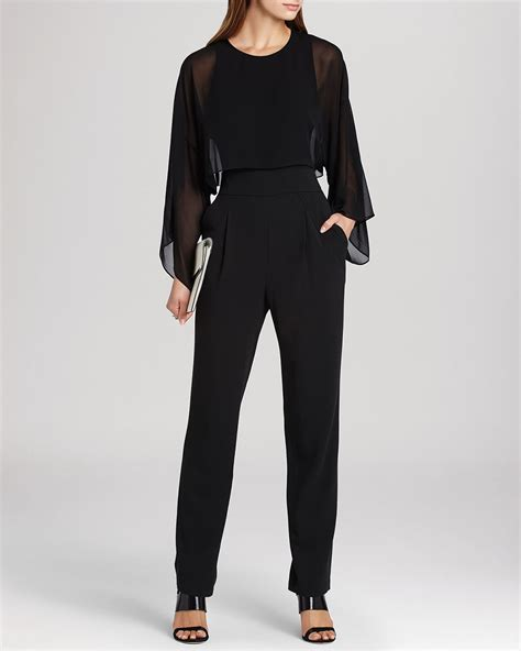 bcbg jumpsuits bcbgmaxazria bcbg max azria jumpsuit zoee layered in black