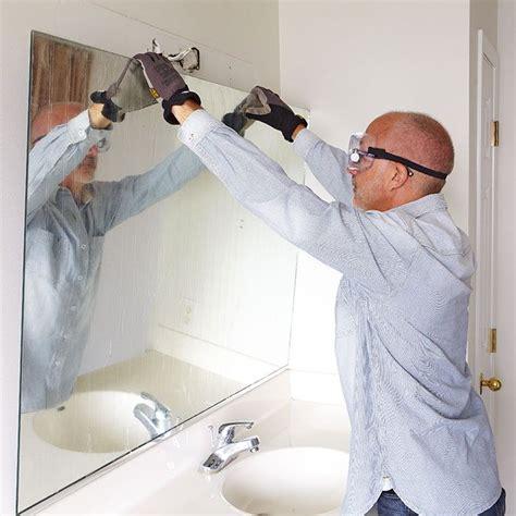 Install Bathroom Mirror by Remove A Bathroom Mirror