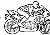 Motorcycle Coloring Drawing sketch template