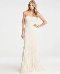 ann taylor petite jasmine lace wedding dress in white With ann taylor wedding dress