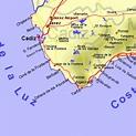 Map of Cadiz province