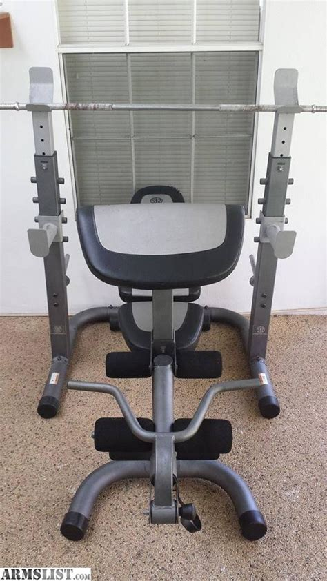 golds weight bench armslist for trade golds platinum weight bench