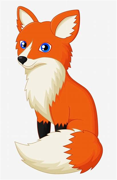 Fox Clip Clipart Cartoon Drawing Orange Foxes