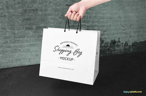 Including multiple different psd mockup templates like cardboard box, cosmetics, coffee cup/mug, shopping bag, car and van mockups. Free Shopping Bag Mockup PSD | ZippyPixels