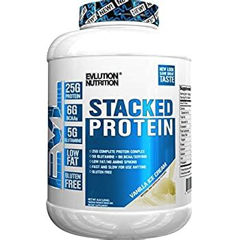 Amazon.com: Evlution Nutrition Stacked Protein Protein