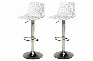 Lot De 2 Tabourets De Bar Design Transparents SMART Design