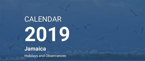 year calendar jamaica