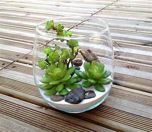Plante Grasse Artificielle : terrarium plantes grasses artificielles h14 5 adele ~ Teatrodelosmanantiales.com Idées de Décoration