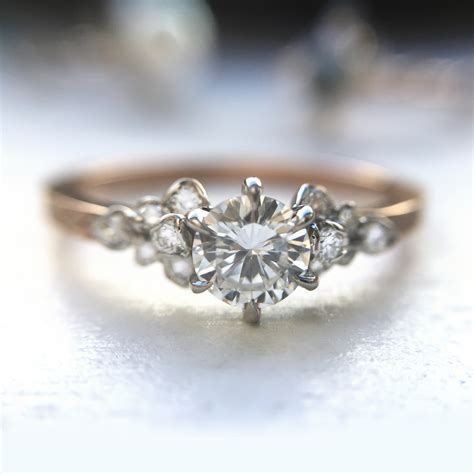 rose ring engagement rings catbird