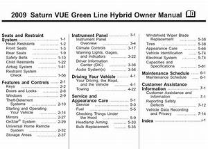 Saturn Vue Hybrid 2009 Owner U0026 39 S Manual  U2013 Pdf Download