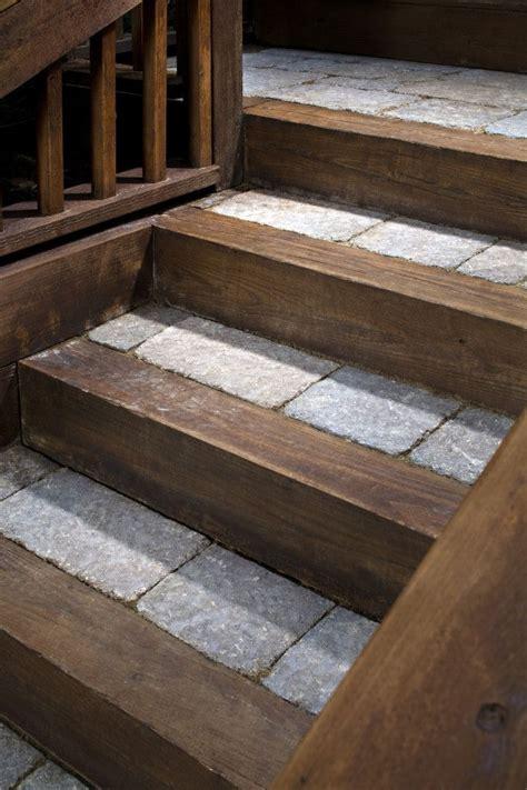 stone steps sbi materials belgard pavers  rustic