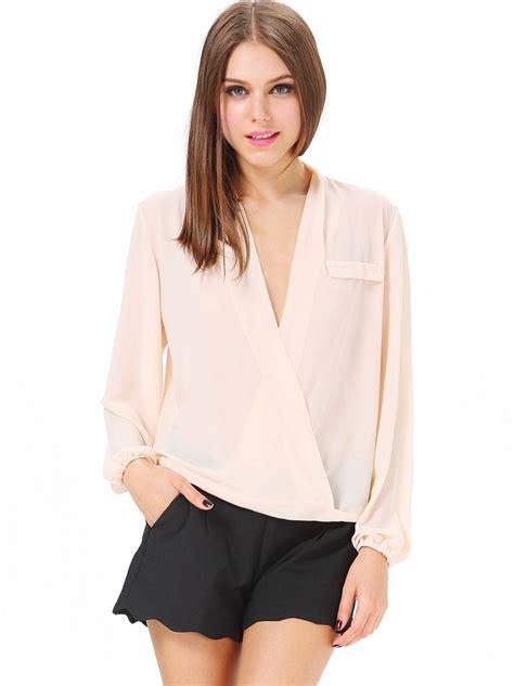 v neck blouses v neck sleeve blouse