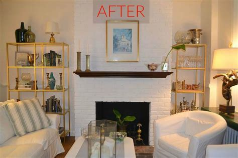 gorgeous ways  transform  brick fireplace