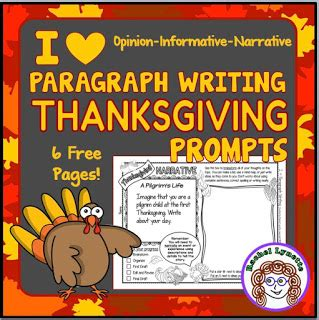 classroom freebies thanksgiving writing prompts