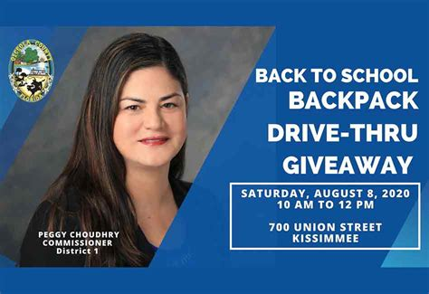 Osceola County District 1 Back to School Drive-thru event ...